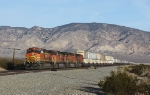 BNSF 4772 and Sisters With Stacks and Pigs